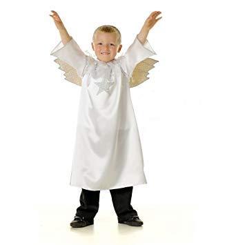 Angel Gabriel Jungen oder Mädchen Engelskostüm Alter 3-5 Jahre