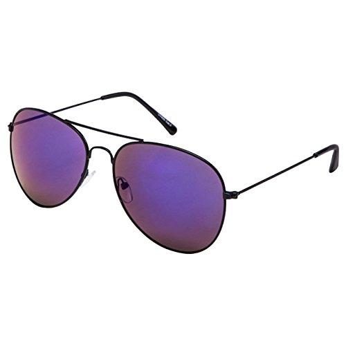 Ciffre EL-Sunprotect® Pilotenbrille Fliegerbrille Sonnenbrille Brille Top Design Schwarz Blaue Glässer Spiegel Glas