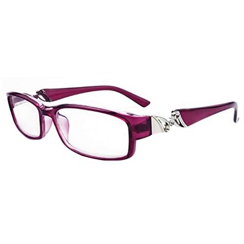MUCHAO Unisex Retro Anti-Müdigkeit Lesebrille Mode Strass Lesebrille Rahmen Brille Stärke: 1.0 bis 6.0
