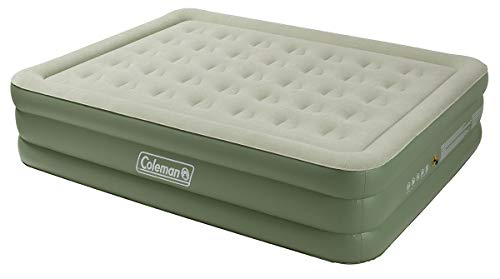 Coleman Maxi Comfort Bed Raised King Luftbett, grün-Creme, One Size -