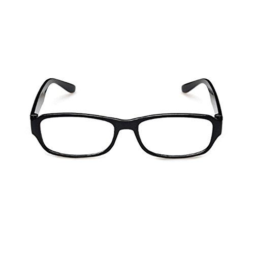 Masterein Frauen Männer Harz Lesebrille Leser Presbyopie Linsen Tragbare Senioren Brillen Vergrößerungsgläser Black & +350