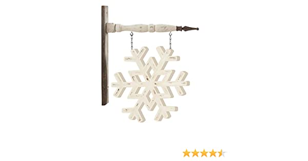 K/&K Interiors 53601A-AR White Painted Snowflake Arrow Replacement