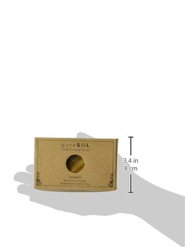 puresol Konjac Schwamm–Kurkuma–Body Schwamm, Schwamm Natur, umweltfreundlich–Sanfte Peeling-Schwamm, Tiefenreinigung, verbesserte Haut Textur–Konjac Körper oder Reinigung Schwamm
