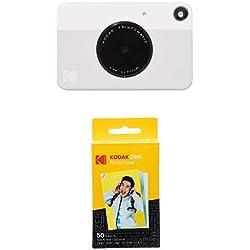 Kodak Printomatic - Appareil Photo à Impression Instantanée avec Papier Autocollant Zink 5 cm x 7,6 cm, Gris