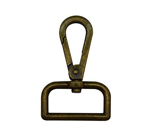 Wuuycoky - Bronze D-ring with flat buckle and swivel clasp, LEN: 2.4 ', D inner ring Diam: 1.5', 6Pcs