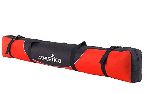 Athletico Mogul Gepolsterte Skitasche - Vollgepolsterte Single Ski Reisetasche (Rot, 170cm)