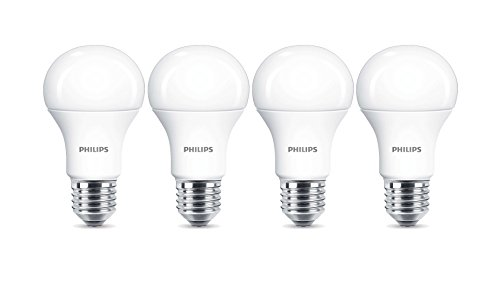 4 x Philips LED Frosted E27 Edison Screw 100w Warm White Light Bulb Lamp 1521lm -