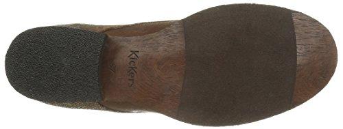 Kickers Pluz, Stivali Classici Alla Caviglia Donna Marron (Camel Brillant)