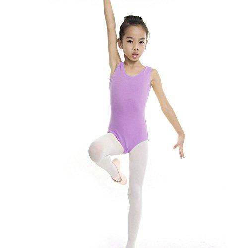 Body Ginnastica Bambina,KISSION Ragazza Balletto e Ginnastica Artistica 4-17 Anni Viola