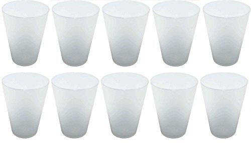 S&S-Shop 70 Plastik Trinkbecher 0,4 l - transparent - Mehrwegtrinkbecher/Partybecher / Becher