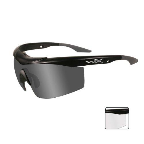 Wiley X WX Talon Brille Smoke Grau Klaren Kontaktlinsen Matte Schwarz Rahmen