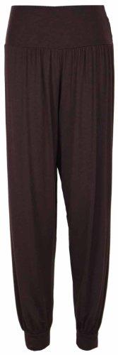 Pantalon de Survetement Sarouel Bouffant Pour Femmes Ceinture Élastique Neuf Dark Brown