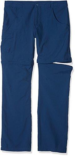 Columbia Fille Pantalon de Randonnée 2en1, SILVER RIDGE III CONVERTIBLE PANTS, Nylon, Bleu Marine (Carbon), Taille: XL, EH8587