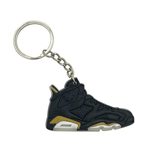 Fly Fashion Sneaker (ProProCo Jordn VI Schuh Sneaker Schlüsselanhänger Fashion für Sneakerheads,hypebeasts und alle Keyholder Nik Adi Yeez Supreme Palace (Black & Gold))