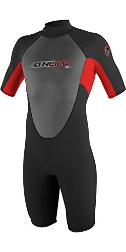 2017 O'Neill Youth Reactor 2mm Back Zip Spring Shorty BLACK / RED 3803