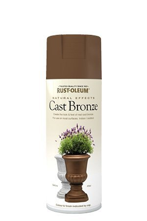 Rust-Oleum Natur Effekte Strukturierte Mehrzweck-Spray Paint aus Bronze - Metallic, Cast Bronze - Metallic, 1 Packung