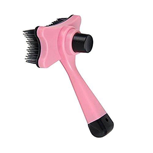 Fellpflege Werkzeug/Bürste geeignet für Haar Fell Entfernung- Ausfallen Rechen trimmen Werkzeug für Hunde & Katzen (Pink)