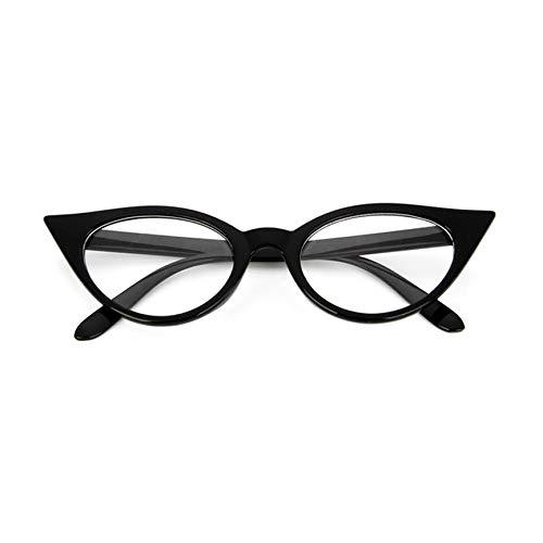 cf73463804c773 VCBBVG Vintage Cat Eye Women PC Eyeglass Glasses Frame Eyewear Glasses  Myopia Frame-Bright Black