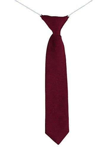 Paisley of London, Garçons Cravate, Cravate Mince, Cravate Élastique, Coton cravate Bordeaux