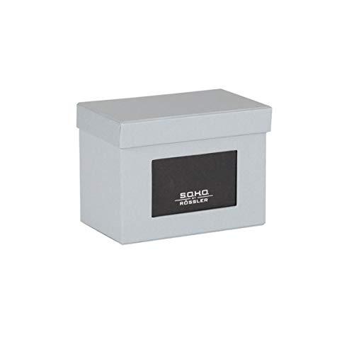 Rössler Papier 1325452175 S.O.H.O Boîte de rangement pour photos avec passe-partout, dimensions 16,5 x 10 x 12,5 cm (Gris) (Import Allemagne)