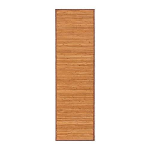 Lolahome Alfombra Pasillera Oriental Marrón De Bambú