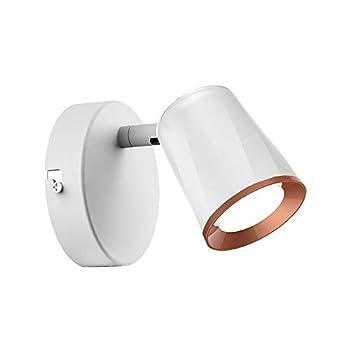 V-TAC 6W White LED Wall Spotlight – LED Single Head Focus Light for Bedroom (4000K - Day White) 180° Adjustable Spotlight Head – 480 lm –Spotlight Fitting for Living Room, Kitchen, Office