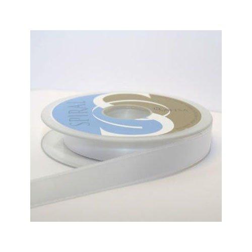 Satin-hutband (Hutband Satin-Band, 15 mm: je 2 x 2 m, weiß)