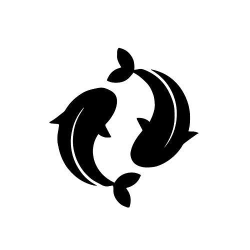 Wandaufkleber Wandaufkleber Wohnkultur Kunst Koi Fisch Goldfisch Wc Aufkleber Muster 21,5X23 Cm - Koi Wc