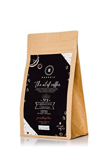BOHORIA® Coffee | Ganze Kaffee-Bohnen | Café Crema, 250g | Premium Arabica, Stärkegrad 3 von 5, säurearm | Roasted in Italy | geeignet für Kaffeevollautomat |ZipBag für lange Haltbarkeit