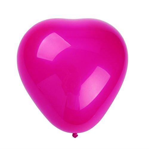 *NUOLUX Ballon Coeur, ballons à latex de 10 pouces pour les fêtes, 50pcs (blanc + rose + rouge rose) Offre de prix