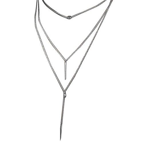HCFKJ Mode Frauen Quaste Multilayer Halskette Elegante Kette Schmuck Collier (Für Kinder Welt Der Trachten)