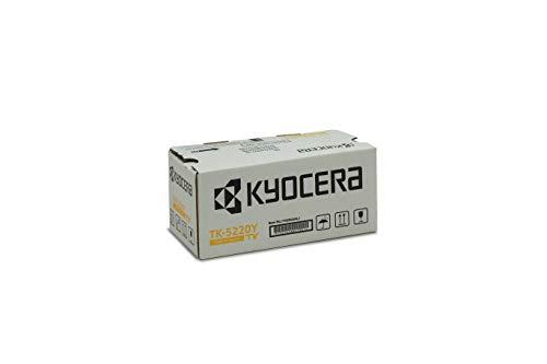 Kyocera TK-5220Y Original Toner-Kartusche Gelb 1T02R9ANL1. Für ECOSYS M5521cdn, ECOSYS M5521cdw, ECOSYS P5021cdn, ECOSYS P5021cdw. Amazon Dash Replanishment-Kompatibel - Original Gelb Toner Kit