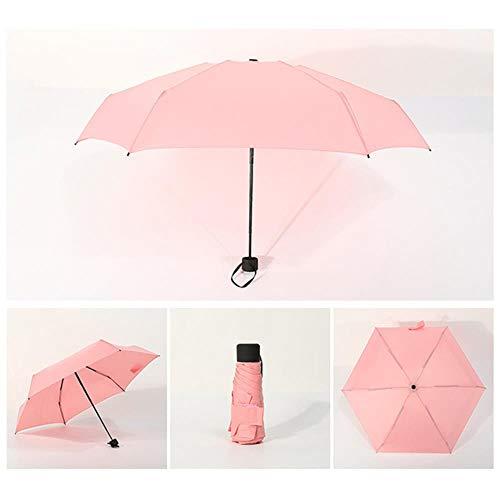 Daccu, piccolo ombrello pieghevole alla moda, anti-uv, impermeabile, portatile, antivento, alla moda, per viaggi hogard jy24 rosa rosa