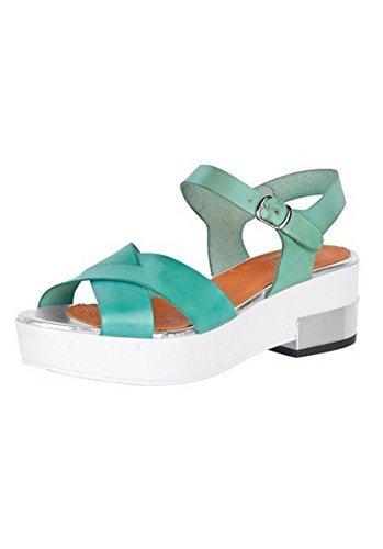 Sandalo col tacco alto Donna Pelle nappa di Best Connections Verde