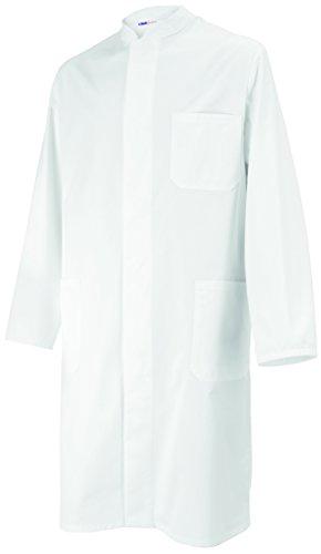08 Visitenmantel Mantel weiß Unisex für Damen und Herren, Stehkragen, Baumwolle, Größe XL (Medizinischen Labor-mäntel Für Männer)