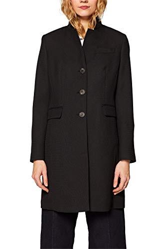 ESPRIT Damen Mantel 029EE1G001 Schwarz (Black 001) Large