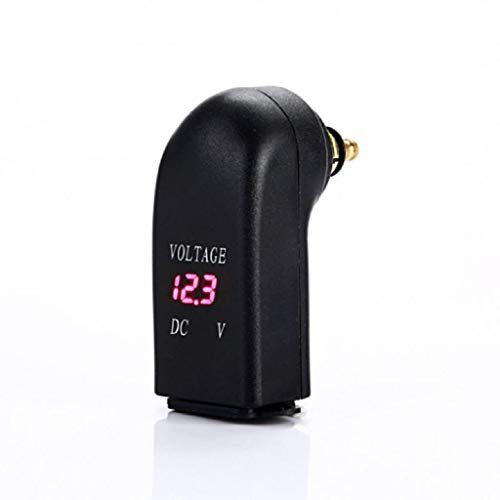 Yubusiness Wasserproof 12V Dual USB Charger Power Adapter LED Voltmeter DIN Steckdose für BMW Triumph Hella Motorrad (R)