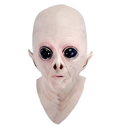BESTGIFT UFO Alien Kopfmaske - Halloween UFO Maske Gruselige Latex UFO Alien Kopfmaske für Erwachsene Maskerade Kostüm Party Cosplay