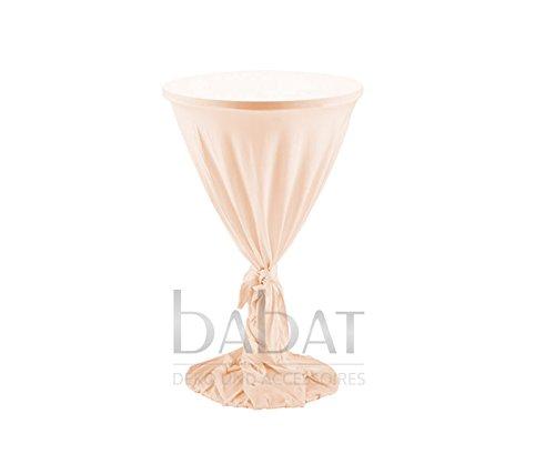 Stehtischhusse Classic Apricot Überwurf Hussen für Bistrotisch in Durchmesser 70cm