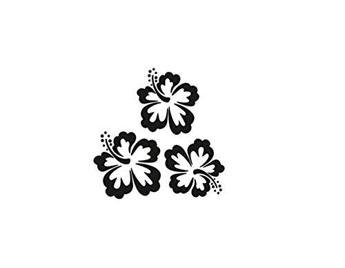 Wandaufkleber Wandaufkleber Hibiskus Blume Papier Vinyl Abnehmbare Wandkunst Kinder Schlafzimmer Dekoration Zubehör 10 * 10 Cm - Hibiskus-blumen Papier