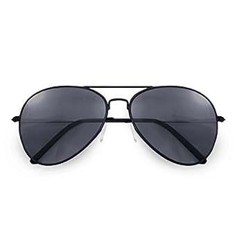 alpland Lunettes de soleil aviateur Cop - Modèle - Magnum Noir -XXL verres - incl. Softbag
