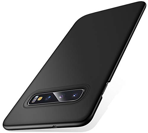 Humixx Kompatibel mit Samsung Galaxy S10 Hülle, Ultra Dünn Schlank Matt Handyhülle Stoßfest Anti-Fingerabdruck Hardcase Bumper Cover Schale Schutzhülle für Samsung Galaxy S10-Schwarz