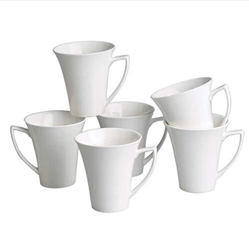 Retsch Arzberg Fantastic Set 6-teilig Kaffeebecher 320 ml/Fine China Porzellan/cremeweiß