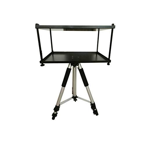 Qucking Light Mini Stativ, Falte Heavy Duty Stativ Basis und alle Metall Regal/Tray verstellbar Schwenk/Rotierende Platte für Heimkino/Unterhaltung & Präsentation (Heavy-duty-video-stativ)