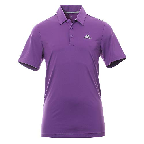 adidas Herren Ultimate 365 Solid Polo Shirt Poloshirt Violett (Morado Dq2346) Small