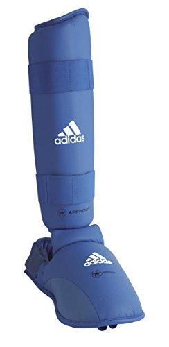 adidas Karate Schienbein-Spannschutz / Fuß Schoner blau, 2 Stück