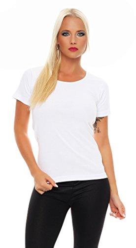 2er Pack Damen Hemd kurzarm (T-Shirt, Top, Unterhemd) Nr. 422 Weiß
