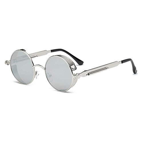 BOLANQ Neu Sonnenbrille, Unisex Vintage Eye Sonnenbrille Retro Eyewear Fashion Strahlenschutz (Grau)