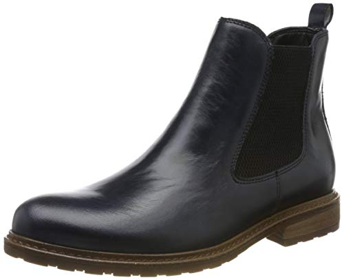 Tamaris Damen 1-1-25056-23 Chelsea Boots, Blau (Navy Leather 848), 39 EU