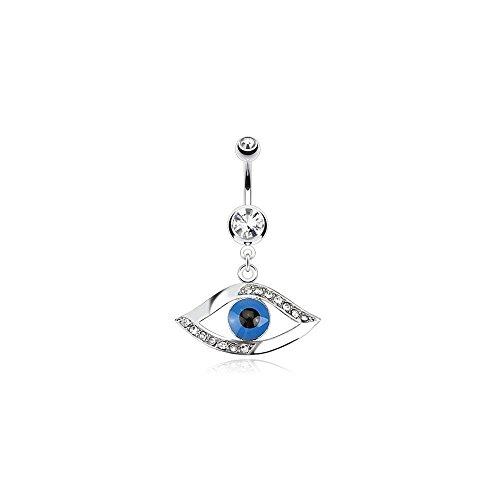 Piercing Nombril acero y Cristal capacidad quirúrgico-Egipto-ojo